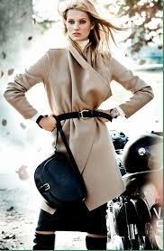 Toni Garrn en la coleccion Massimo Dutti de invierno